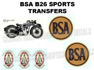 BSA B26 Sports Transfer Decal Set DBSA195